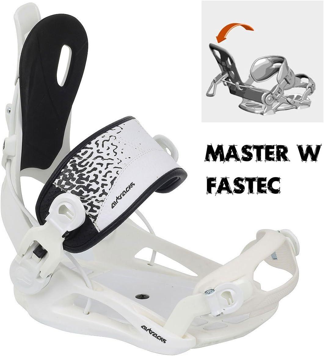 Paquete Completo Tabla Luminous Mujer Fijaciones Master W FASTEC+ Botas AIRTRACKS Snowboard Set SB Bolsa//Nuevo