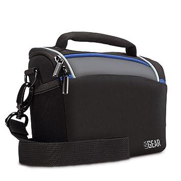 USA GEAR – Bolsa Protectora Duradera con Cubierta Impermeable y divisores Ajustables para cámara Digital