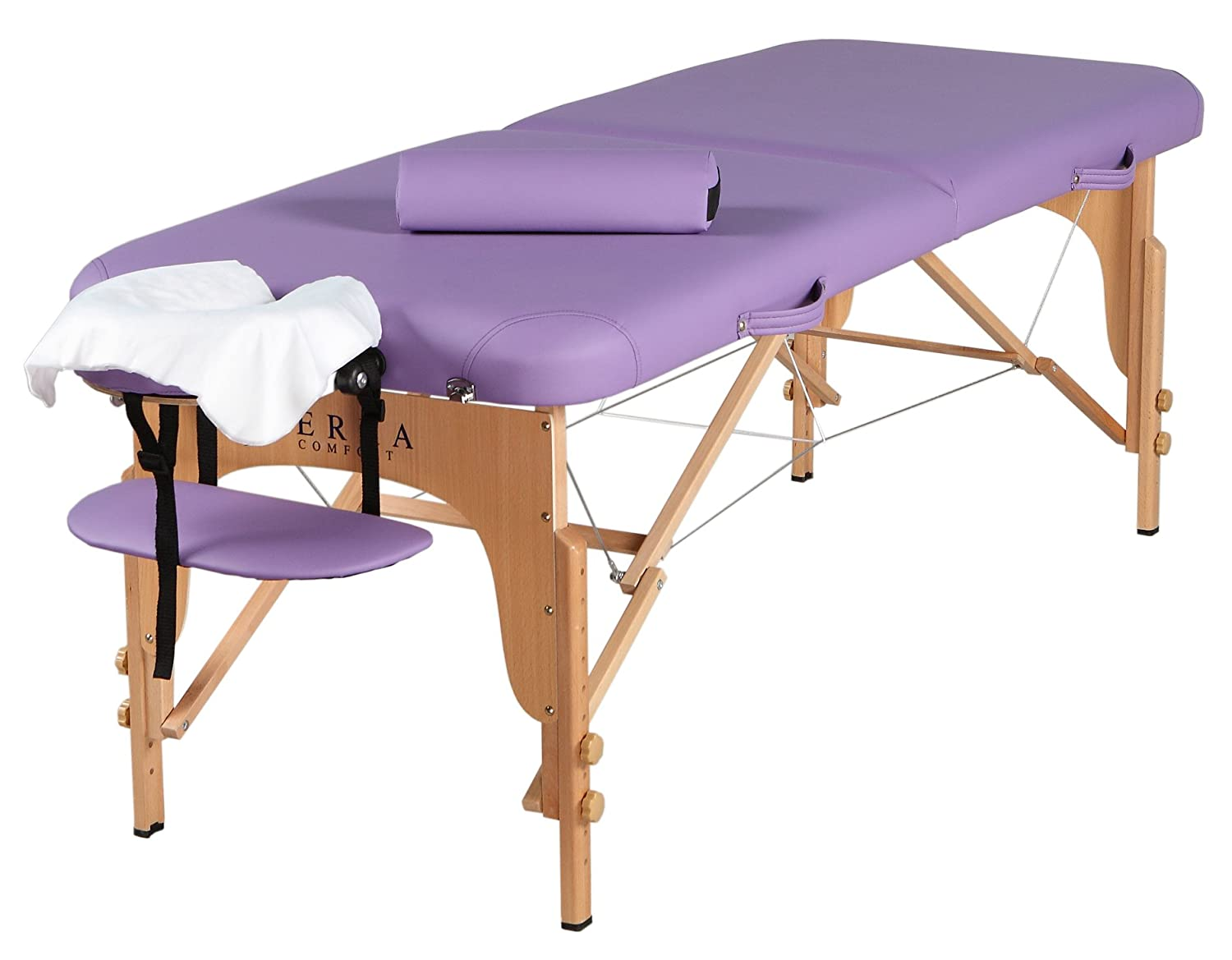 Sierra Comfort Professional Series Portable Massage Table, Purple SC-601-PURPLE