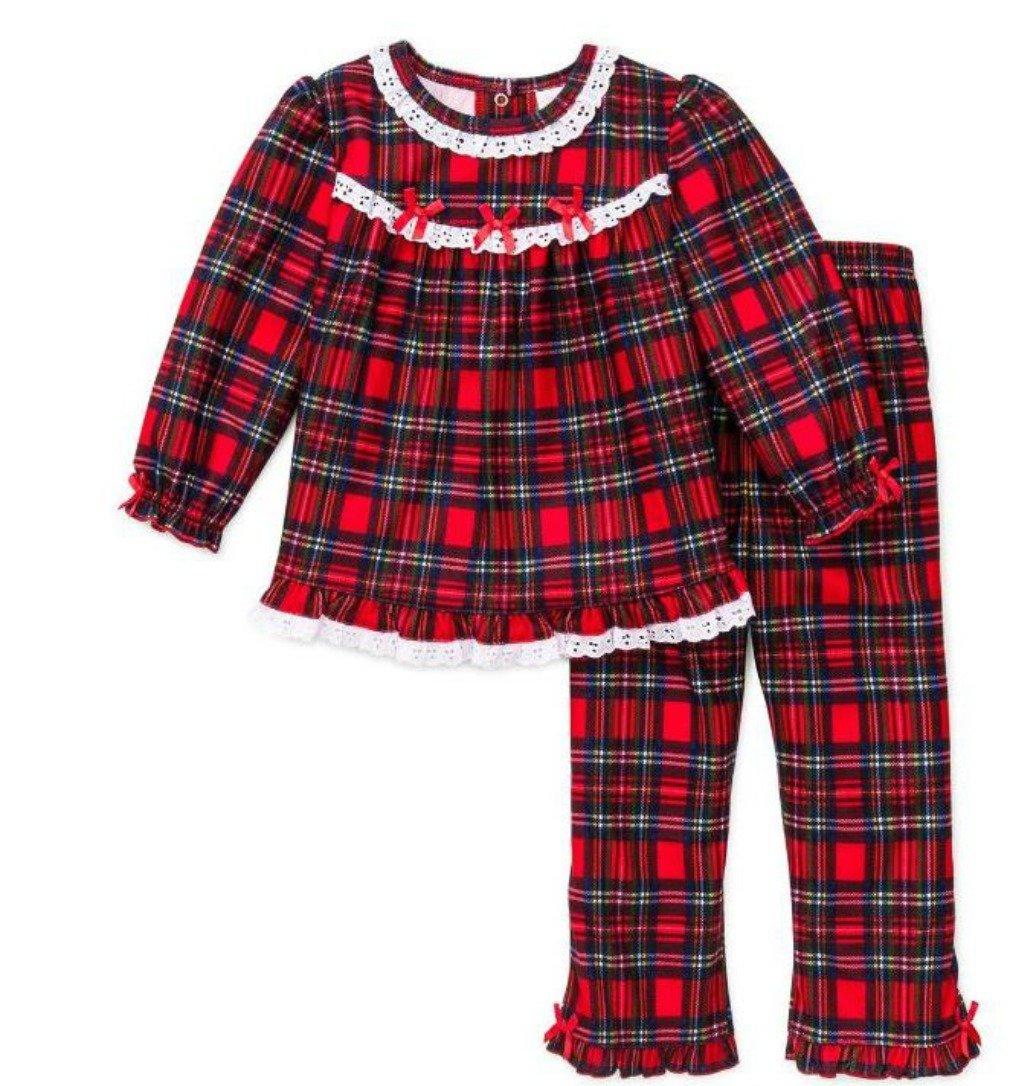 Girls Christmas Pajamas - Infant Toddler Pant Set (5)
