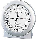 エンペックス気象計 温度湿度計 スーパーEX 温湿度計 置き用 日本製 シャインシルバー EX-2767