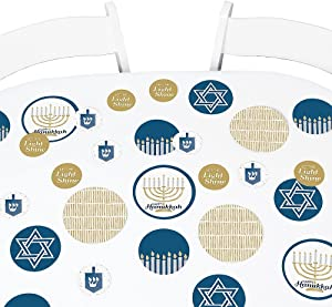 Big Dot of Happiness Happy Hanukkah - Chanukah Party Giant Circle Confetti - Party Decorations - Large Confetti 27 Count