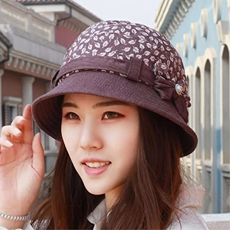 55eef33a043 XINQING-MZ Hat the girl basin cap the cap spring and summer Fashion Cap  mother