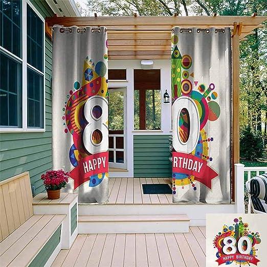 Sunnyhome Cortina para Fiesta de 80 cumpleaños ...