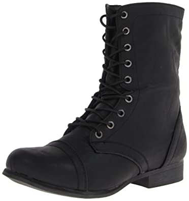 Amazon.com | Madden Girl Women's Gamer Combat Boot, Black Paris, 5 ...
