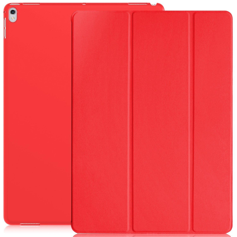 KHOMO Funda iPad Pro 12.9 (Segunda Generación 2017) Carcasa Roja Ultra Delgada y Ligera con Smart Cover Rojo Apple iPad Pro (12,9