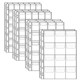 Homgaty - 10 hojas de colección de monedas de plástico, fundas protectoras de monedas con