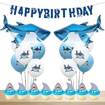 Fangleland Decoraciones para el cumpleaños de Tiburones ...