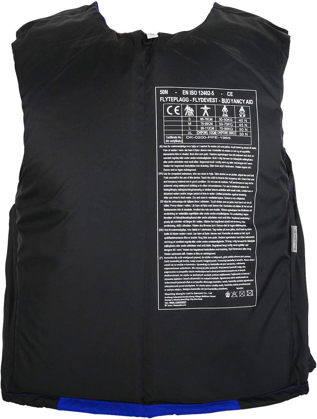 Leader Accessories Schwimmhilfe Erwachsene Auftriebsweste ISO 12402-5 Feststoffweste mit Brusttasche ideal f/ür den Wassersport Auftriebshilfe bis zu 50N