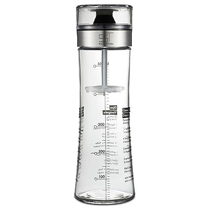 SILBERTHAL Mezclador de vinagretas, aliños, salsas y aceite   Botella de cristal con tapa