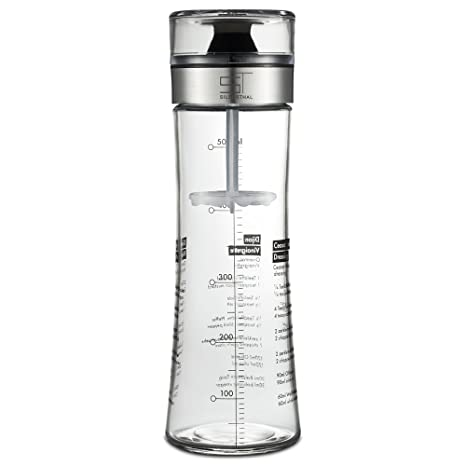 SILBERTHAL Mezclador de vinagretas, aliños, salsas y aceite | Botella de cristal con tapa