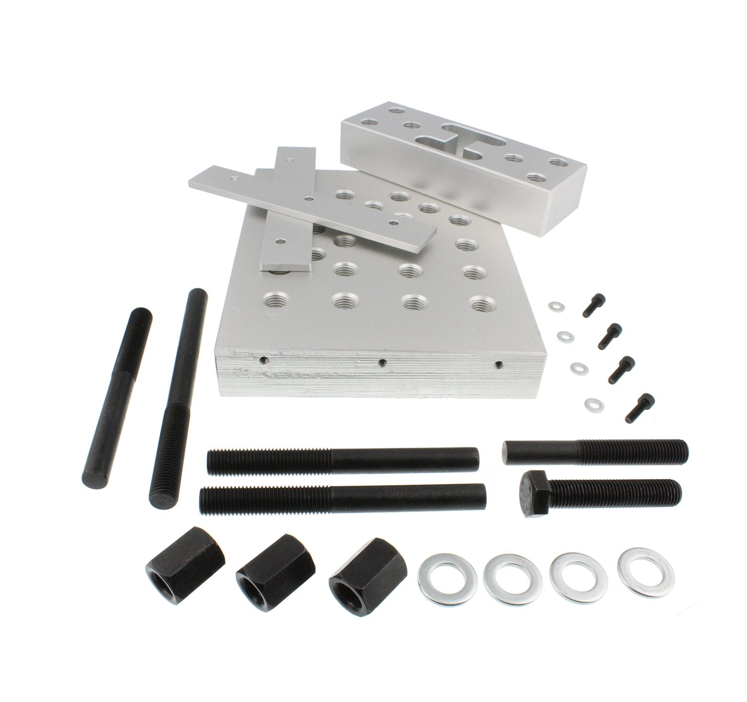 ABN Universal Drill Press Support Block Plate Tool Set Kit, 30 Ton – Bearing and Bushing Repair Removal Installation by ABN (Image #2)