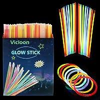 Vicloon Barras Luminosas, Pulseras Luminosas con Conectores, Kits
