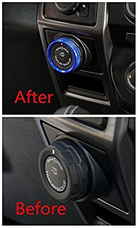 Bestmotoring - Marco embellecedor de aluminio para Ford F150 2016, color azul