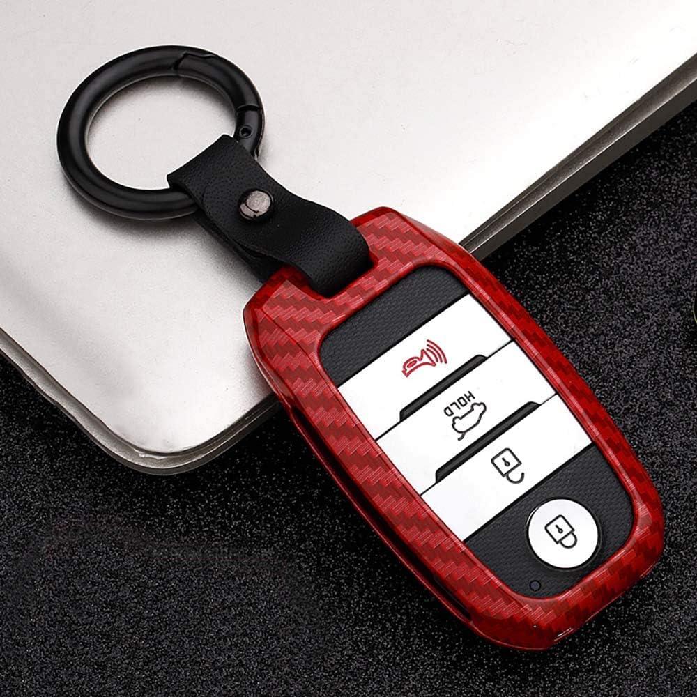 Llavero Protector de Metal para Kia Remote Entry Smart Car Keyless Key Case Llavero Llavero Shell A A Black Carcasa para Llave de Coche Kia de aleaci/ón de Zinc ontto