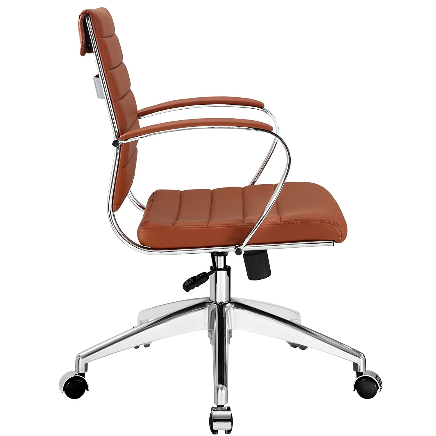 Amazon Modway Jive Ribbed Mid Back Executive fice Chair