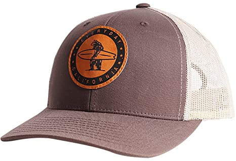 Everyday California  Padre  Snapback Vintage Brown Surf Hat - Baseball  Style Cap With Vegan 2cf5eaa56a91