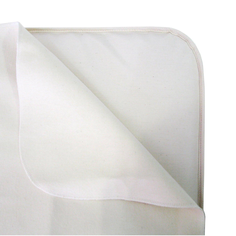 Naturepedic Organic Non Waterproof Flannel Flat Crib Protector Pad by Naturepedic