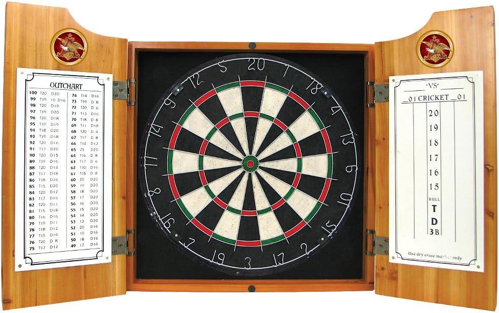 Trademark Gameroom Anheuser Busch Wood Dart Cabinet Set: Amazon.es ...