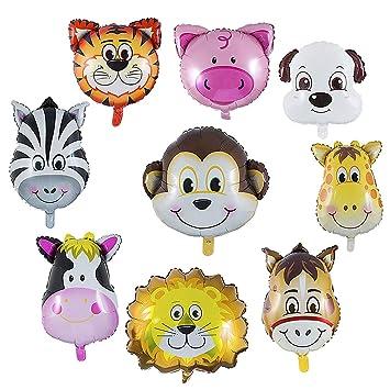 Wolintek 9 Piezas Globos Animales Cumpleaños, Globos ...