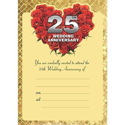 The Invitation Cards 25th Wedding Anniversarysilver Jubilee