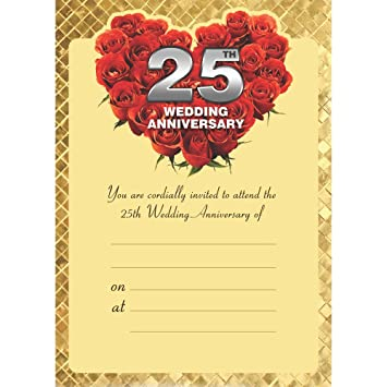 The Invitation Cards 25th Wedding Anniversary Silver Jubilee