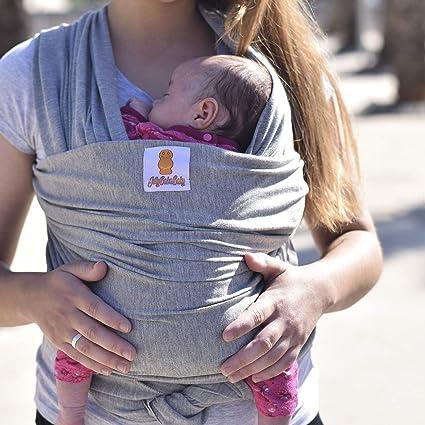 Sporgo Babytragetuch Kindertragetuch Grey Atmungsaktiv Tragetuch Unisex-Babytrage Koala-Kuschelband-Babytrage f/ür Neugeborene bis 20 kg Leicht zu Tragen