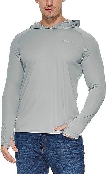 BALEAF - Camiseta de manga larga con protección solar UPF 50+ para hombre: Amazon.es: Deportes y aire libre