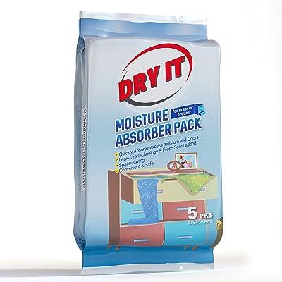 .com - Drawer Deodorizer & Dresser Odor Eliminator - Moisture Absorber Packs for Clothing Protection [5pk] -