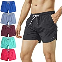 42816e5127 MaaMgic Mens Short Swim Trunks with Mesh Lining Quick Dry Boy Mens Board  Shorts Swim Suit