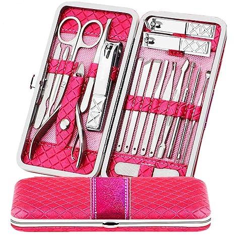 Manicura y Pedicura Cortaúñas Set, Profesional Alicates de uñas,Tijeras para cutículas, Pinzas