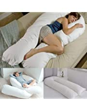 Bedding Home 12 FT Long C_U Shaped Full Body Cuddly & Maternity Pregnancy Support Pillow