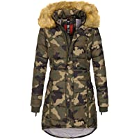 Navahoo Papaya Damen Winter Jacke Steppjacke Mantel Parka gesteppt warm B374