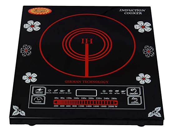 Surya Induction Cooktop Model DZ18-IP in Black Induction Cooktops at amazon