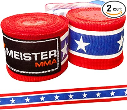 "MMA Mexican Boxing Gloves Women NEW MEISTER PINK 180/"" SEMI-ELASTIC HAND WRAPS"