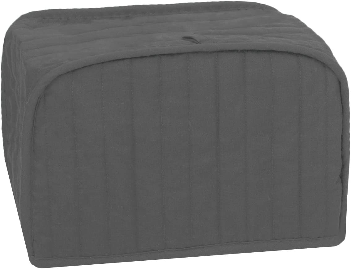 RITZ Polyester / Cotton Quilted Four Slice Toaster Appliance Cover, Dust and Fingerprint Protection, Machine Washable, Graphite Grey