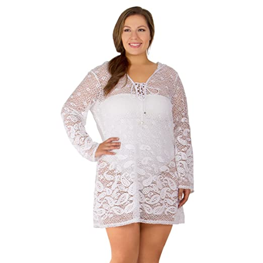 5beeb8f83b19b Image Unavailable. Image not available for. Color  Dotti Riviera Paisley  Women s Plus Size Cover-Up From