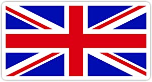 "British Flag UK Flag - Laptop Stickers - 3"" Vinyl Decal - Laptop, Phone, Tablet Vinyl Decal Sticker"