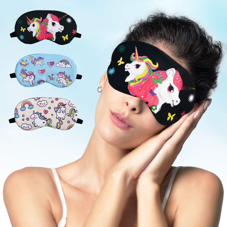 Eccoo House Unicorn Sleeping Mask 5pcs Soft Lightweight Blindfold Eye Cover for Men Women Kids by Eccoo House (Image #5)