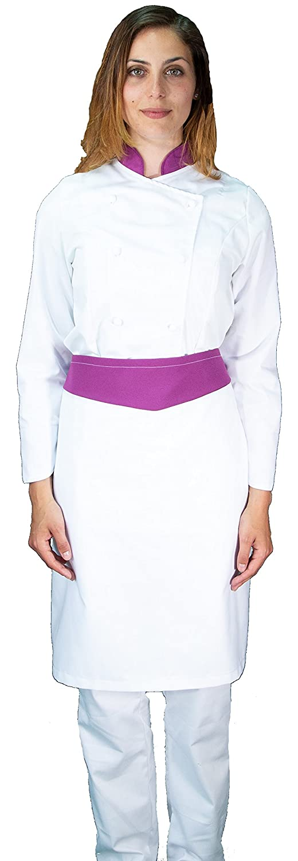 tessile astorino completo cuoco chef, pantalone giacca e davantino, e bandane, vari colori, Uomo, Donna, taglie da XS a XXXXL, Made in Italy