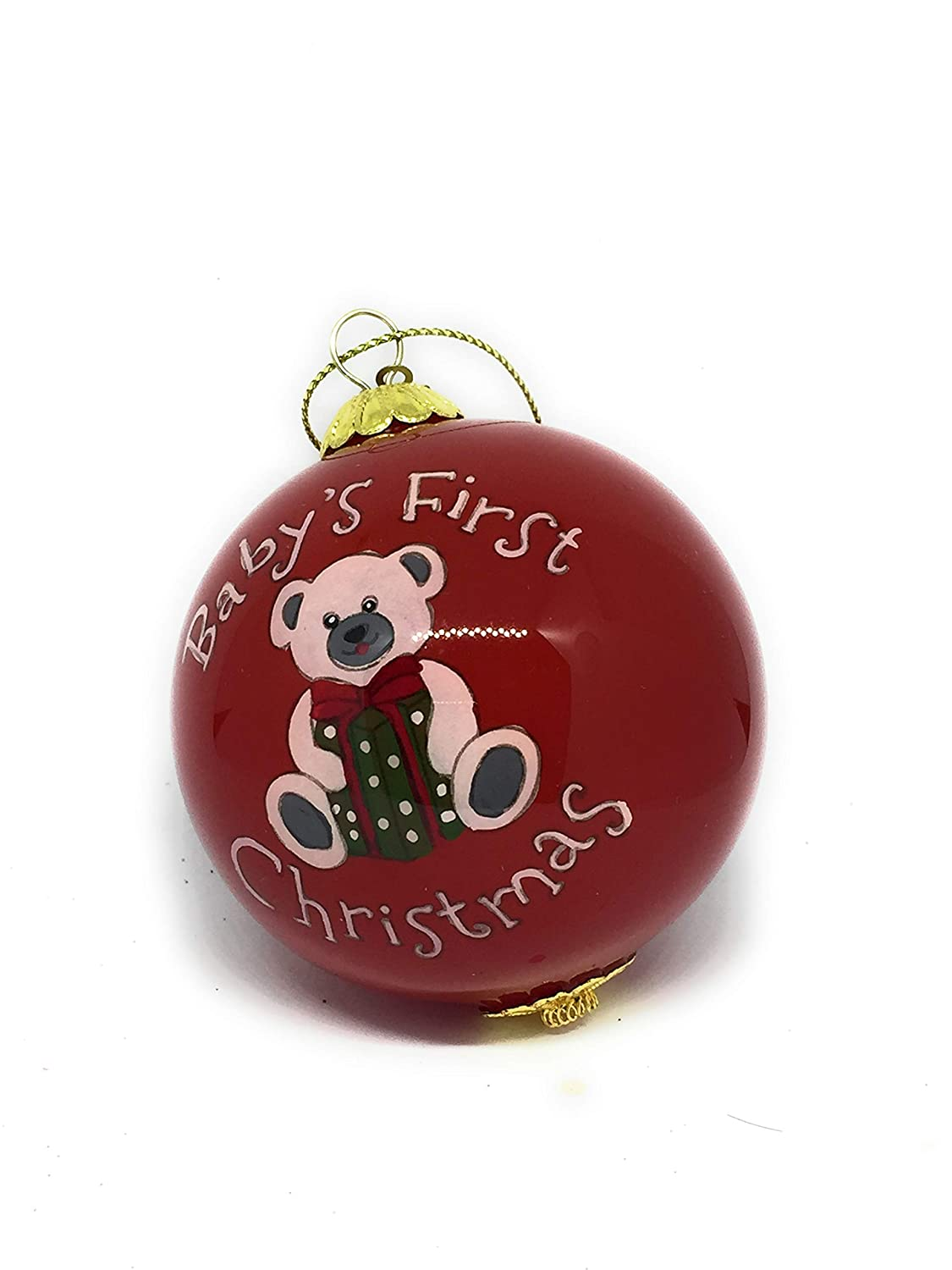 Pier 1 Christmas Ornaments.Amazon Com Pier 1 Li Bien Hand Blown Glass Ball Christmas