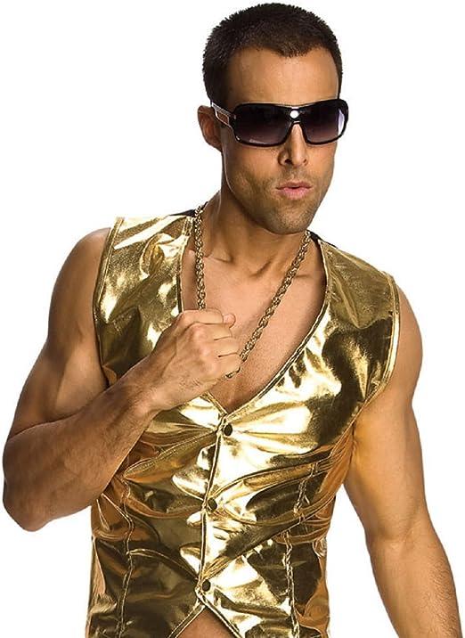 Old School collar con colgante en forma y dorado disfraz de rapero ...