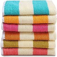 AKIN 6 Piece Cotton Hand Towel - 120 GSM, Multicolor (Length = 54cm, Width = 36)