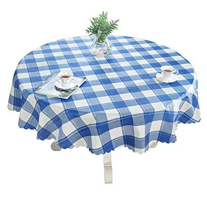 Amazon Com Ouwin 100 Waterproof Round Tablecloth Spill Proof
