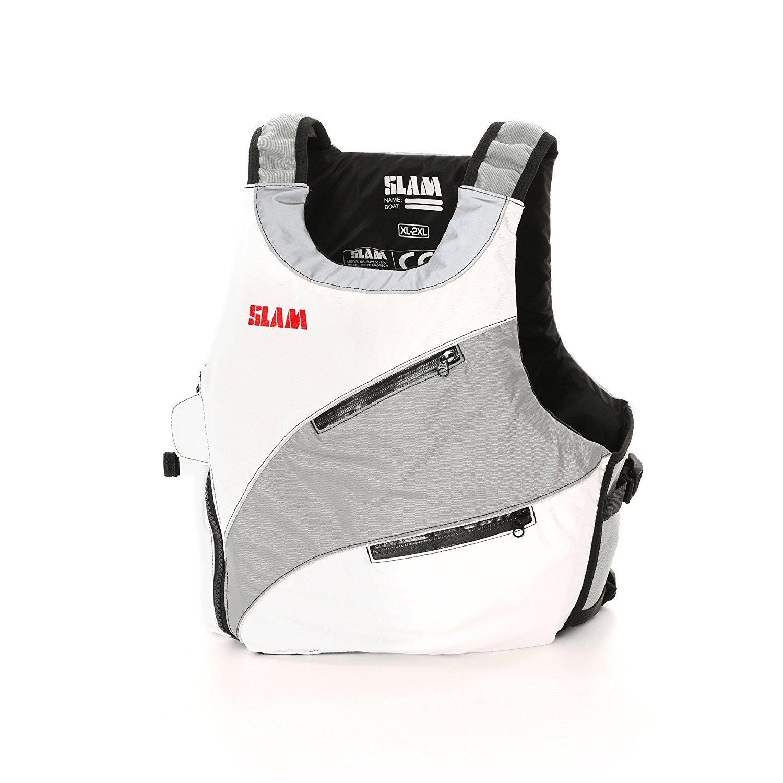 Slam Skiffコレクション – Protech浮力ベストISO Jenior ホワイト/グレー B073PHQZ15