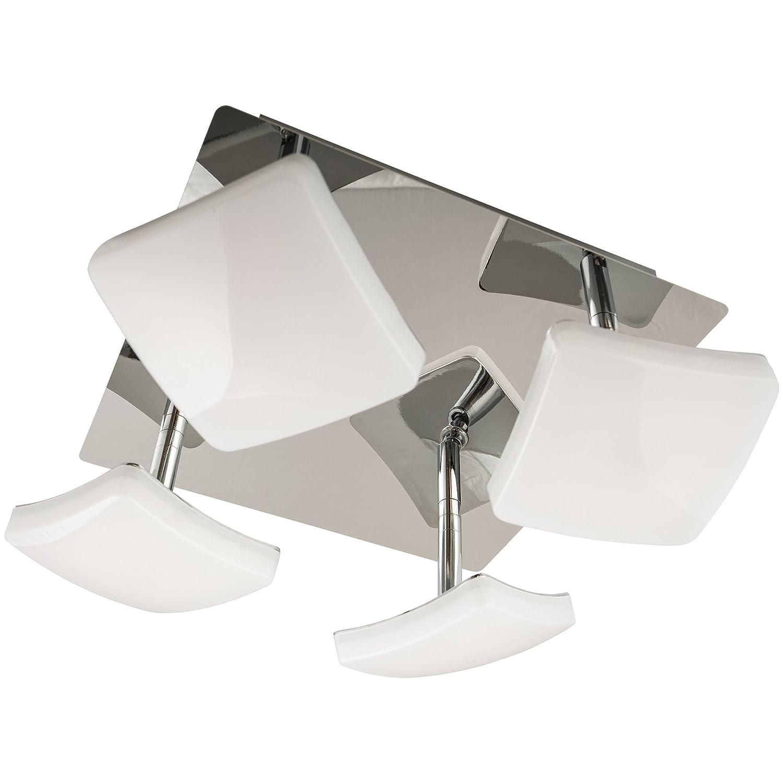 Lu-Mi® LED Deckenleuchte Designleuchte Deckenlampe modern   Deckenleuchten für Wohnzimmer, Kinderzimmer, Schlafzimmer (Deck LED Curvo OO4)
