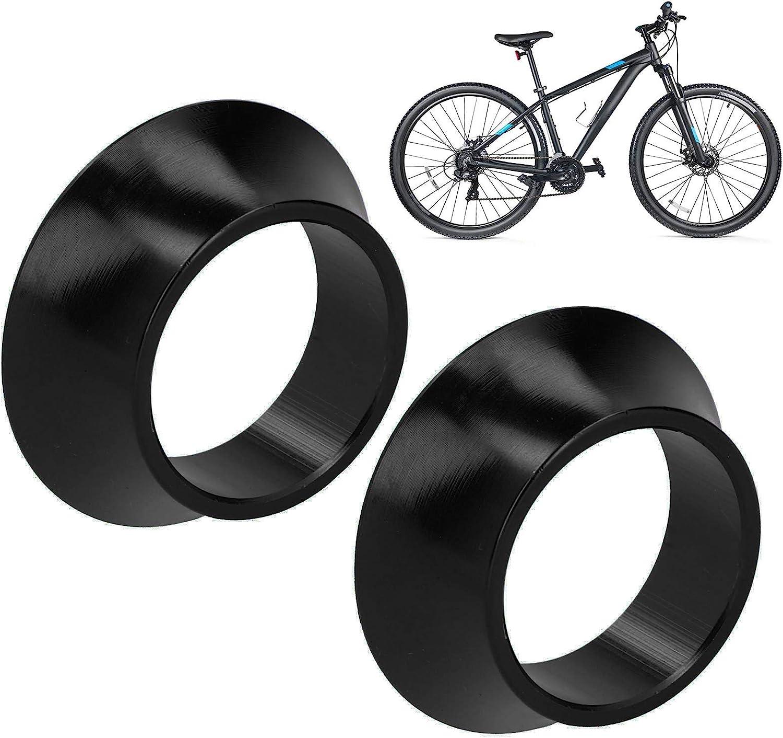 Black Bike CNC Aluminium Alloy Headset Washer Bike Front Fork Conical Stem Spacers 2Pcs Bike Headset Spacer