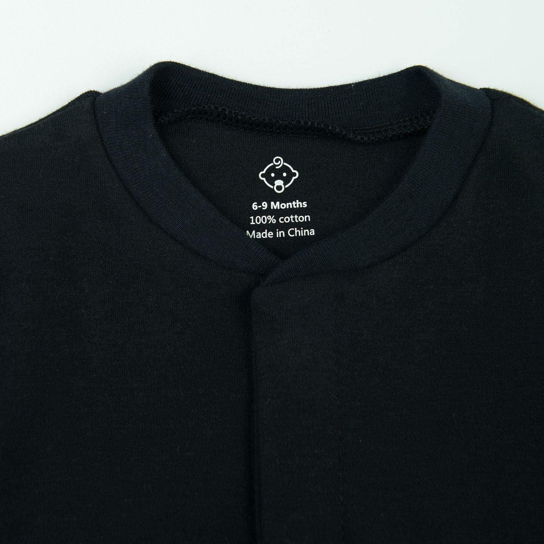 einteiliger Schlafanzug 0-24 Monate Jungen M/ädchen Schlafanzug lange /Ärmel Baumwolle OPAWO Unisex Baby Schlafanzug
