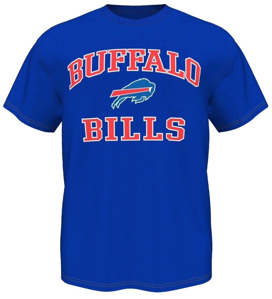 140e7eb04 Amazon.com   Majestic Buffalo Bills NFL Heart   Soul III Men s Blue T-Shirt    Sports   Outdoors