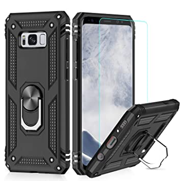 LeYi Funda Samsung Galaxy S8 Armor Carcasa con 360 Anillo iman Soporte Hard PC y Silicona TPU Bumper antigolpes Fundas Carcasas Case para movil ...